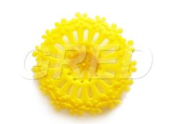 Фильтр для слива в раковину d95 мм «Ромашка желтого цвета»