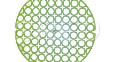 Решетка для раковины — круглая D28, зеленая