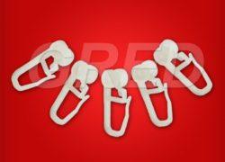 Крючки для штор с роликом на гардину, набор 100 шт