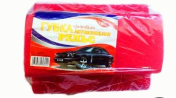Губка для мытья автомобиля «Рельс» — 170 х 130 х 80 мм