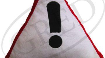 Подушка в автомобиль с надписью — «!»