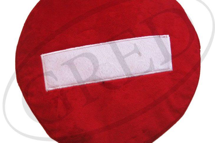 Подушка в автомобиль с вышивкой — знак «Кирпич»