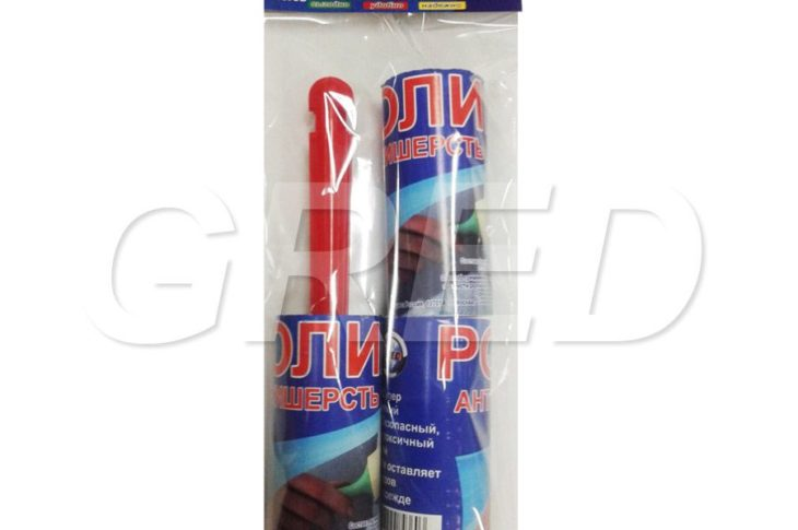 Ролик-щетка для чистки одежды с двумя сменными блоками, 20 листов, RE-530