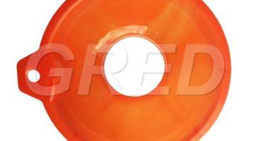 Воронка с широким горлом для банок оранжевая