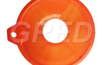 Воронка с широким горлом для банок, оранжевая