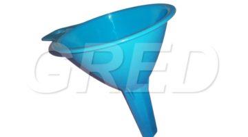 Воронка d110-111 мм голубая