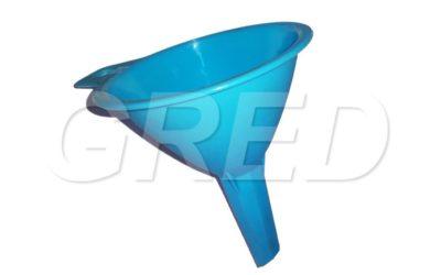 Воронка маленькая d75 мм голубая