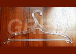 Плечики для одежды — Вешалка ВПЛ-15 прозрачная, 42 см