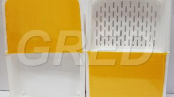 Доска разделочная «Миди» с двумя лотками,  с антискользящими ножками, 34,5*23*4см, RE- 609