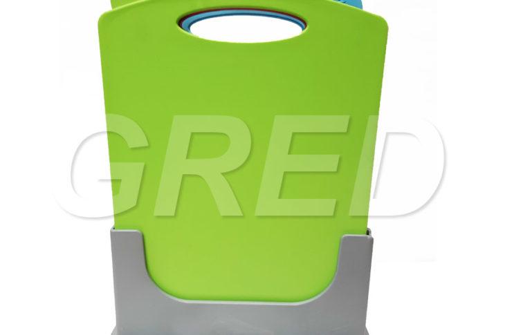 Доски разделочные с маркерами на подставке, набор 3 шт, пластик, RE-612